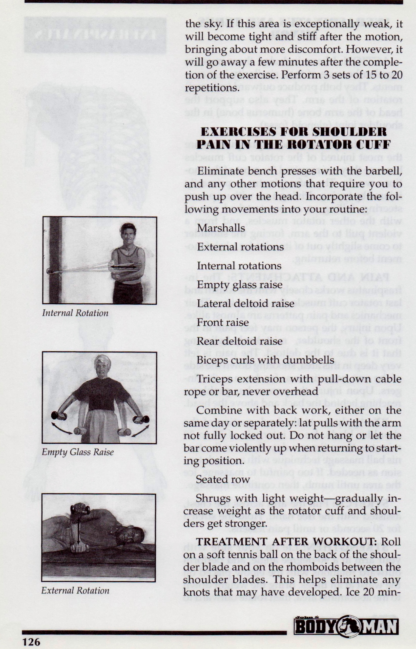 {Rotator Cuff Exercises p 126}