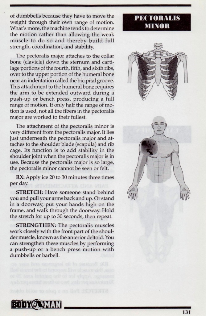 {Pectoralis Major and Minor p131}