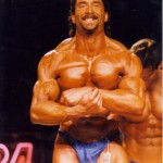 {The Crab Pose in bodybuilding shows off the Traps as well at the Deltoids, Pectoralis and Biceps all at once}