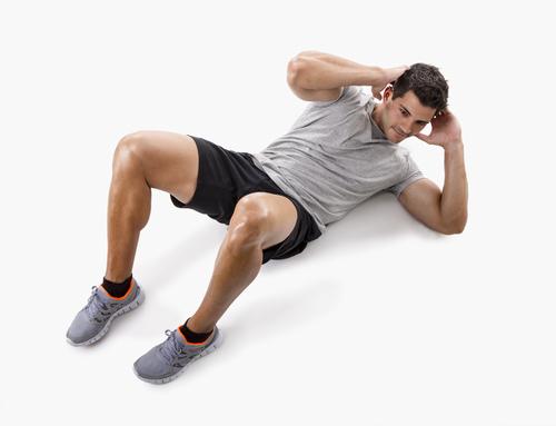 Bodyman Male Twisting Floor Crunches John The Bodyman
